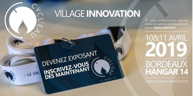 Dernière opportunité pour exposer sur le Village Innovation de Cycl'Eau Bordeaux